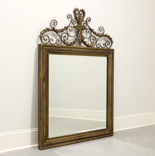 UTTERMOST Valonia Distressed Gold Beveled Wall Mirror