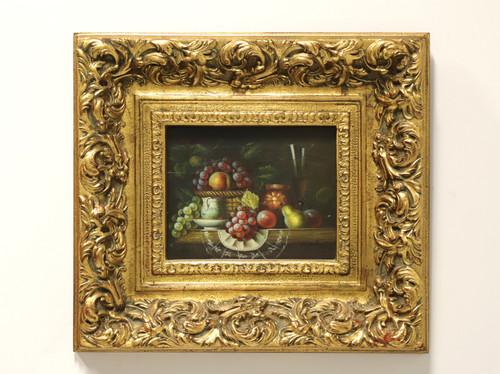 20th Century Original Oil on Canvas - Fruit Basket - Signed W. Jenkins