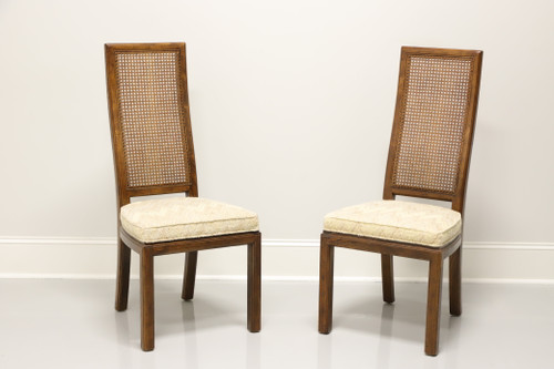 SOLD - HENREDON Scene One Campaign Style Dining Side Chairs - Pair C