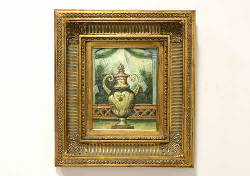 20th Century Original Oil on Canvas - Grecian Urn - Signed