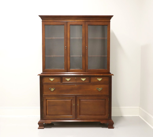 SOLD - CRAFTIQUE Solid Mahogany Georgian Style China Hutch