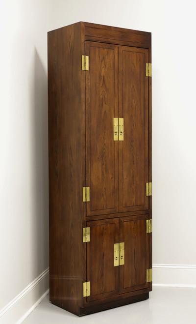 HENREDON Scene One Campaign Style Armoire Cabinet - A