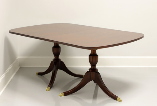 SOLD - HENKEL HARRIS Mahogany Double Pedestal Dining Table - Style 2208 Finish 29