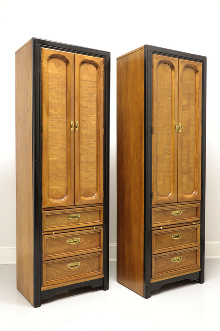 SOLD - THOMASVILLE Embassy Asian Influenced Armoire Cabinets - Pair