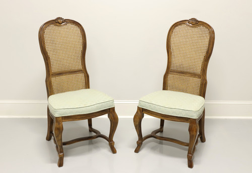 DREXEL HERITAGE French Provincial Style Oak Dining Side Chairs - Pair A