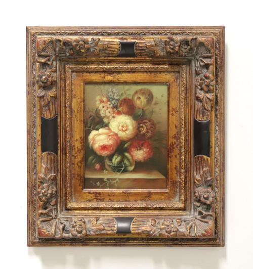 SOLD - 20th Century Original Oil on Canvas - Pink & White Bouquet - Unknown Artist