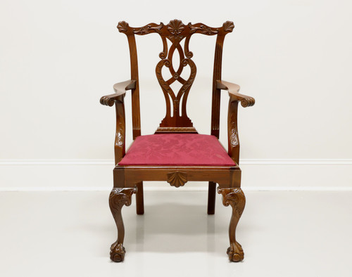 Antique Mahogany Chippendale Ball in Claw Armchair