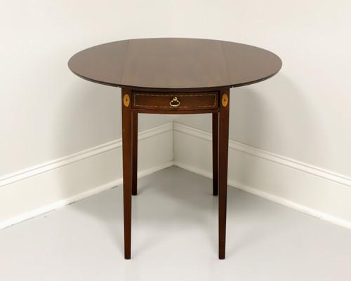 Vintage Inlaid Mahogany Hepplewhite Pembroke Drop-Leaf Table