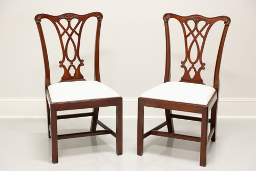 HENKEL HARRIS 107S 29 Mahogany Chippendale Dining Side Chairs - Pair A