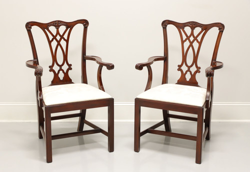 HENKEL HARRIS 107A 29 Mahogany Chippendale Dining Armchairs - Pair