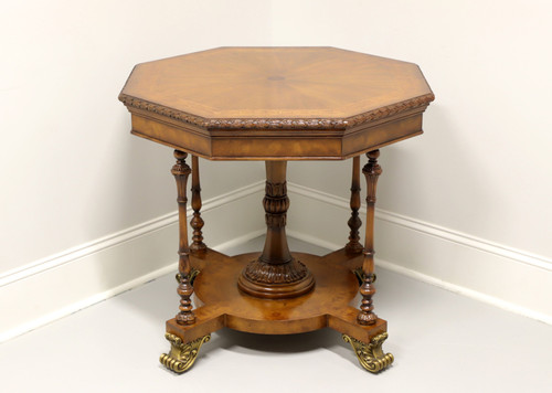 MAITLAND SMITH Regency Inlaid Banded Mahogany Octagon Accent Table