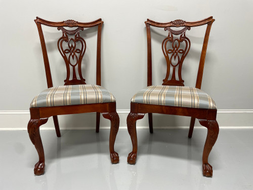 SOLD - PENNSYLVANIA HOUSE Solid Cherry Chippendale Style Ball in Claw Dining Side Chairs - Pair A