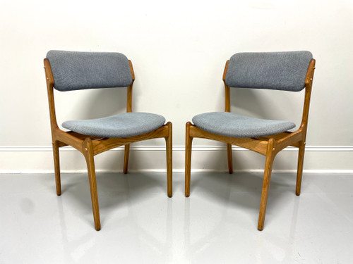 Erik Buch for Mobler Model 49 Oak Danish Mid Century Modern Side Chairs - Pair A
