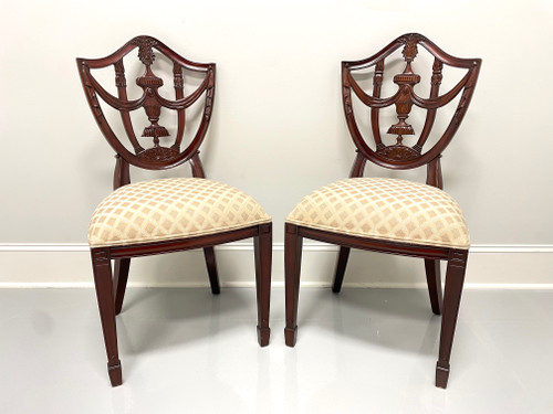 MAITLAND SMITH Mahogany Hepplewhite Style Dining Side Chairs - Pair A