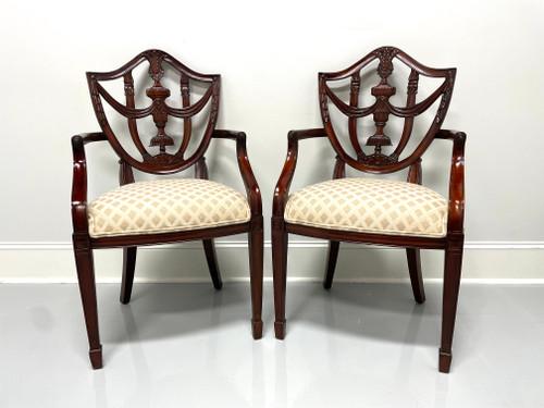 MAITLAND SMITH Mahogany Hepplewhite Style Dining Armchairs - Pair