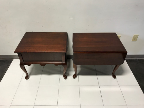 Delwood Coffee Table.Sold Out Solid Cherry Queen Anne Style Side End Tables By Jf Delwood Near Pair