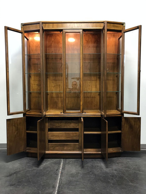 ... SOLD OUT   DREXEL HERITAGE Accolade Campaign Style Lighted China  Display Cabinet ...