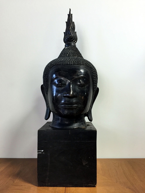 "Extra Large 36"" Buddha Head Sculpture"