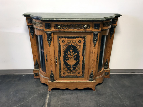 Credenza Console : Sold out vintage inlaid console credenza with ormolu and marble