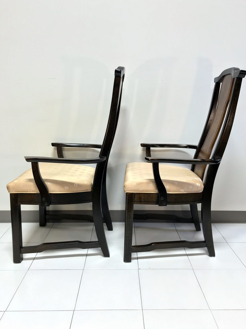 ... SOLD OUT   Broyhill Premier Ming Collection Vintage Asian Chinoiserie  Dining Captain Arm Chairs   Pair ...