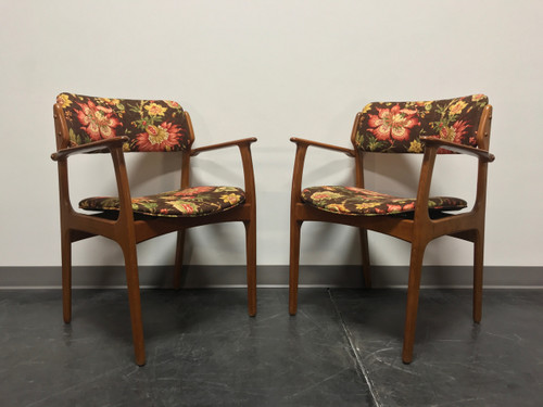 SOLD OUT - Erik Buch for Mobler Model 49 Teak Danish Mid Century Modern Arm Chairs - Pair 1
