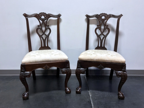 SOLD OUT HENREDON Rittenhouse Square Mahogany Chippendale Ball in Claw Dining Side Chairs Pair 2