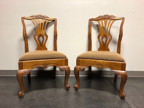 HEKMAN Marsala French Country Oak Dining Side Chairs - Pair A