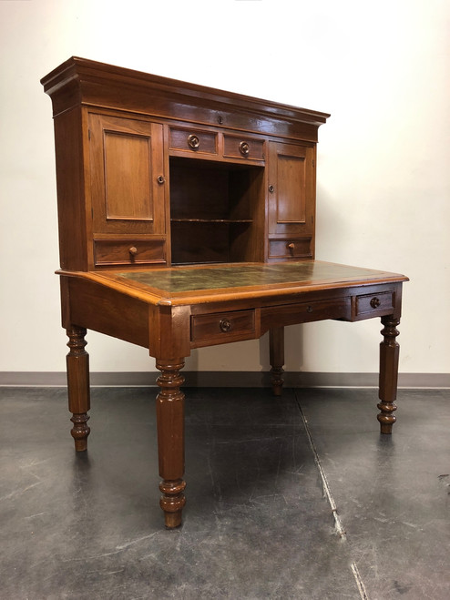 SOLD OUT - 19th Century Antique Walnut Railroad Paymaster Desk