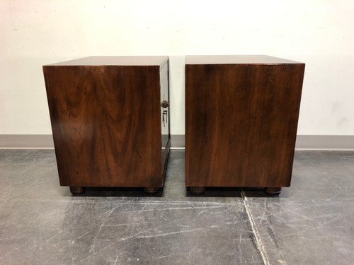 sports shoes b6b6e fee04 SOLD OUT - HENREDON Pan Asian Walnut Chinoiserie Nightstands / Bedside  Cabinets