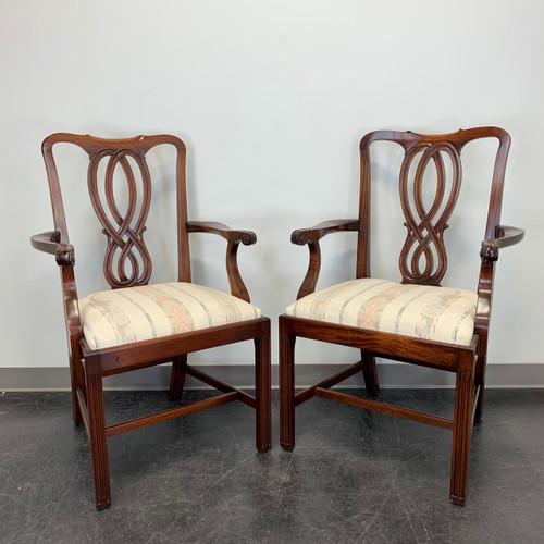BEVAN FUNNELL Reprodux Mahogany Georgian Straight Leg Dining Captain's Armchairs