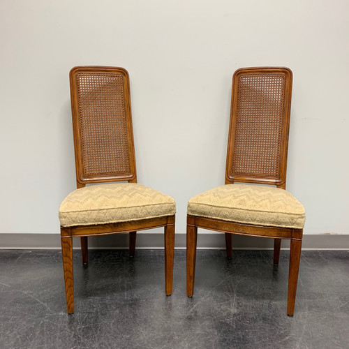 HENREDON Artefacts Campaign Style Dining Side Chairs - Pair 1