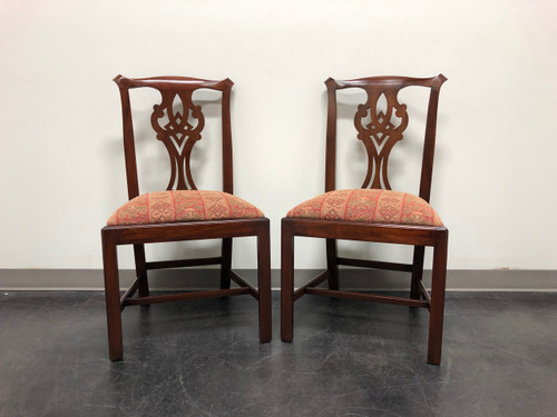 SOLD OUT   HENKEL HARRIS Model 101 S Mahogany Chippendale Dining Side Chairs    Pair 1