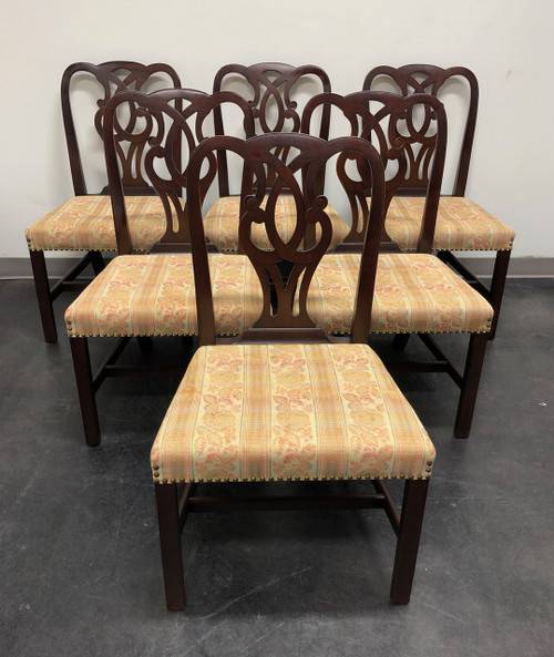 BAKER Solid Mahogany Georgian Style Dining Side Chairs #789 - Set of 6
