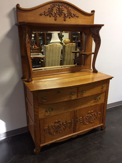 Sold Out Antique Victorian Quartersawn Tiger Oak