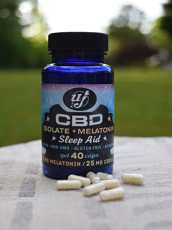 CBD Isolate + Melatonin-40 ct  bottles