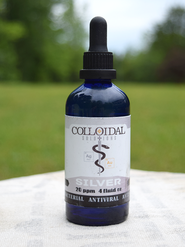 Colloidal Silver (20 ppm)- 4 oz dropper bottle
