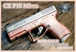 CZ P10 Micro Rose Gold Silver Lining Edition