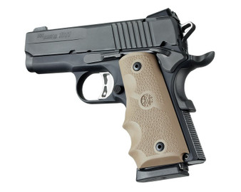 Hogue Officers Model Rubber Grip with Finger Grooves Flat Dark Earth
