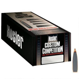 Nosler Custom Competition Bullets 30 Caliber (308 Diameter) 155gr Hollow Point Boat Tail per 100