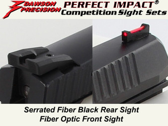 Dawson Precision CZ SP-01 Competition Fixed Sight Set - Black Rear & Fiber Optic Front