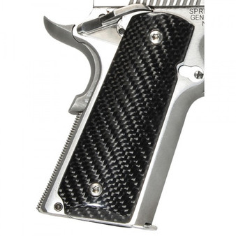 Pachmayr Carbon Fiber Grips For 1911 Textured Black