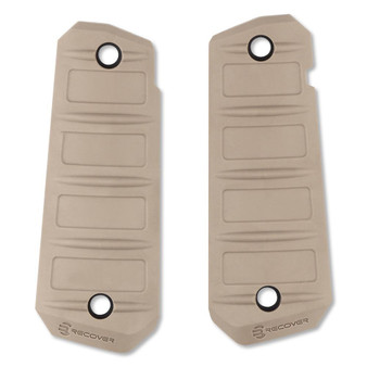 Recover Tactical Quick Change 1911 Rubber Grips Plain Tan RG15T