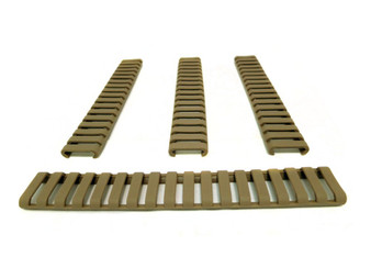 Rubber Rail Cover Khaki Per 4