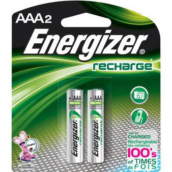 Energizer Rechargeable AAA Batteries Pack of 2 700mAh