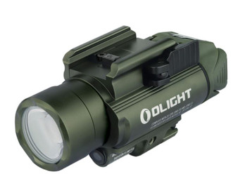 The BALDR Pro OD Green is a professional lighting tool with green laser sight and white LED for installation on equipment with a Picatinny (MIL-STD-1913) or Glock rail. Powered by two CR123A batteries, the max output of the BALDR Pro OD Green is 1350 lumens. The neutral white LED and TIR lens makes for a robust search light. The center beam of the BALDR Pro OD Green is intense and concentrated, also soft and wide when near the ground. The white LED can also be set to 300 lumens of constant lighting. The beam emitted by the green laser is clearly visible during both night and day. Equipped with adjustable screws; the light can withstand strong impacts and vibrations without loosening after calibration. It's easy to install and detach the light by pressing or loosening the side swing arm. The main body of the product is made of aluminum alloy for extremely high strength and reliability. The BALDR Pro OD Green is a high-quality choice for professional users with its excellent ease of use, high brightness and extremely powerful performance.    FEATURES: (1) With extreme performance of 1,350 lumens and 260 meters beam distance, the BALDR Pro OD Green is leading the way in compact rail lighting tools. (2)Three light settings available: You can choose from white LED Only, green laser only, and white LED/ green laser combined by flipping a rotating switch underneath the weapon light. (3) Safe and easy to adjust 5mW green laser for higher accuracy. (4)Green laser is suitable for accurate targeting both day and night. (5)Compatible with both Glock rail (installed on the product) and Picatinny rail (included in the package). (6)Quick mount/detach system.