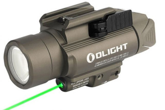 The BALDR Pro is a professional lighting tool with green laser sight and white LED for installation on equipment with a Picatinny (MIL-STD-1913) or Glock rail. Powered by two CR123A batteries, the max output of the BALDR Pro is 1350 lumens. The cool white LED and TIR lens makes for a robust search light. The center beam of the BALDR Pro is intense and concentrated, also soft and wide when near the ground. The white LED can also be set to 300 lumens of constant lighting. The beam emitted by the green laser is clearly visible during both night and day. Equipped with adjustable screws; the light can withstand strong impacts and vibrations without loosening after calibration. It's easy to install and detach the light by pressing or loosening the side swing arm. The main body of the product is made of aluminum alloy for extremely high strength and reliability. The BALDR Pro is a high-quality choice for professional users with its excellent ease of use, high brightness and extremely powerful performance.    FEATURES: (1) With extreme performance of 1,350 lumens and 260 meters beam distance, the BALDR Pro is leading the way in compact rail lighting tools. (2)With extreme performance of 1,350 lumens and 260 meters beam distance, the BALDR Pro is leading the way in compact rail lighting tools. (3) Safe and easy to adjust 5mW green laser for higher accuracy. (4)Green laser is suitable for accurate targeting both day and night. (5)Compatible with both Glock rail (installed on the product) and Picatinny rail (included in the package). (6)Quick mount/detach system.