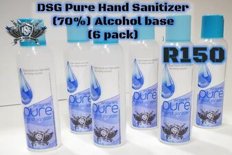 DSG Pure Hand Sanitizer (70%) Alcohol base 6 Pack 125ML