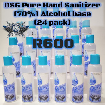 DSG Pure Hand Sanitizer (70%) Alcohol base (24 pack)125ML