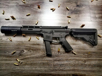 New Frontier C9 9mmP Carbine with Silencer