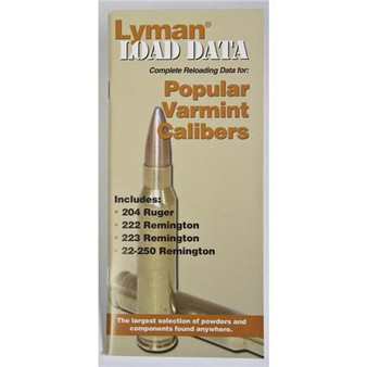 Lyman Popular Varmint Calibers Load Data Book, 20 & 22 Cal Rifles
